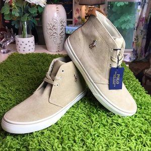 Mens Ralph Lauren High Top Casual Sneakers Sz 12
